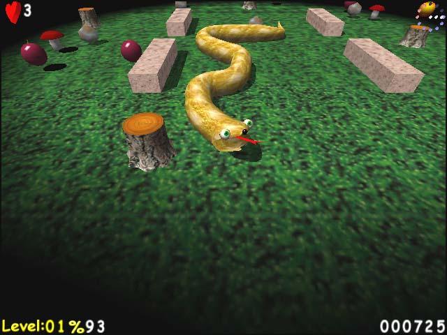 لعبة الثعبان AxySnake كاملة بمساحة